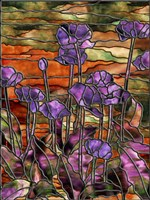 Stained Glass Poppies by Mindy Sommers - various sizes