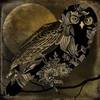 Sepia Moon Owl Fine Art Print