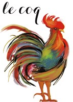 Art Nouveau Rooster II by Mindy Sommers - various sizes