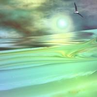 Aqua Dunes Fine Art Print