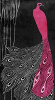 Art Nouveau Pink Peacock by Mindy Sommers - various sizes