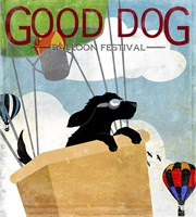 Good Dog Balloon Festival Framed Print