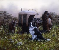 Minding the Tractor Fine Art Print