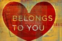 Heart Belongs by John W. Golden - various sizes, FulcrumGallery.com brand