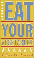 Eat Your Vegetables Framed Print