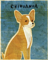 Chihuahua (red) Framed Print