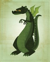 Green Dragon Framed Print
