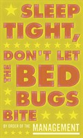 Sleep Tight, Don't Let the Bed Bugs Bite (green & orange) by John W. Golden - various sizes