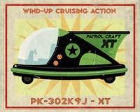 Patrol Craft XT Box Art Tin Toy Framed Print
