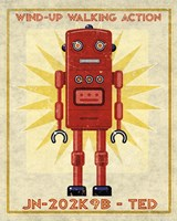 Ted Box Art Robot Fine Art Print