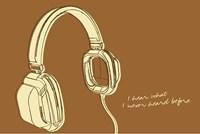 Lunastrella Headphones Fine Art Print