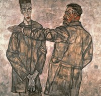 Double Portrait Of Otto And Heinrich Benesch, 1913 by Egon Schiele, 1913 - various sizes