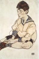 Portrait Of Paul Erdmann In A Sailor Suit by Egon Schiele - various sizes, FulcrumGallery.com brand