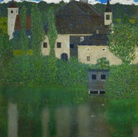 Unterach Manor On The Attersee Lake In Austria,  1915-1916 Fine Art Print