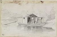 The Houseboat Fine Art Print