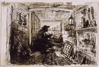 The Studio On The Boat,  c. 1860 Fine Art Print