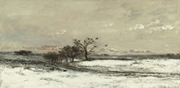 Landscape With Snow And Setting Sun, 1873 Fine Art Print
