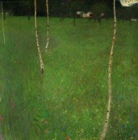 Farmhouse With Birch Trees, 1900 Fine Art Print