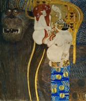 """Detail From """"""""The Hostile Powers"""""""": Head Of The Titan Typhoeus, 1902 by Gustav Klimt, 1902 - various sizes"""