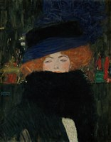 Lady With Hat And Feather Boa, 1909 Fine Art Print