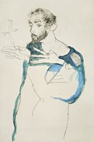 Painter Gustav Klimt In His Blue Painter'S Smock, 1913 Fine Art Print