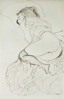 Liegender Halbakt Nach Links - Female Nude-1913 by Gustav Klimt, 1913 - various sizes