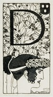 """Initial """"""""D""""""""  Used In The Third Issue Of """"""""Ver Sacrum"""""""", 1898 by Gustav Klimt, 1898 - various sizes"""