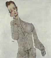 Portrait Of Painter Karl Zakovsek, 1910 Fine Art Print