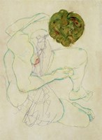 Seated Female Nude, 1914 by Egon Schiele, 1914 - various sizes
