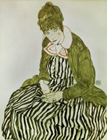 Edith Schiele Seated, 1915 by Egon Schiele, 1915 - various sizes
