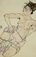Kneeling Female Semi-Nude, 1917 by Egon Schiele, 1917 - various sizes