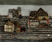 Suburb I, 1914 by Egon Schiele, 1914 - various sizes