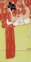 Musik (Stehende Lyraspielerin) - A Woman Playing The Lyre, 1901 by Gustav Klimt, 1901 - various sizes