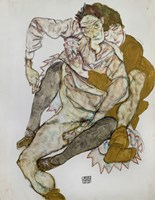 Seated Couple (Egon Und Edith Schiele), 1915 Fine Art Print
