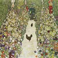 Garden Path with Hens, 1916 Fine Art Print