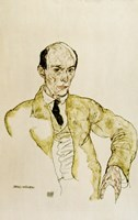 Composer Arnold Schoenberg, 1917 Fine Art Print