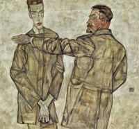 Double Portrait Of Chief Inspector Heinrich Benesch And His Son Otto, 1913 by Egon Schiele, 1913 - various sizes