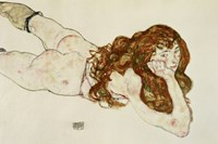 Female Nude On Her Stomach, 1917 by Egon Schiele, 1917 - various sizes
