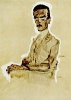 Portrait of Eduard Kosmack Seated, 1910 by Egon Schiele, 1910 - various sizes