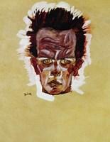 Self-Portrait (Head), 1910 by Egon Schiele, 1910 - various sizes
