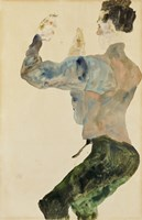 Self-Portrait with Raised Arms, 1912 Fine Art Print