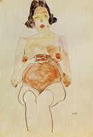 Red Nude, Pregnant, 1910 Fine Art Print