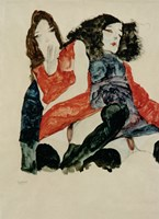 Two Girls, 1911 by Egon Schiele, 1911 - various sizes