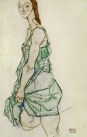 Standing Woman In Green Shirt, 1914 by Egon Schiele, 1914 - various sizes