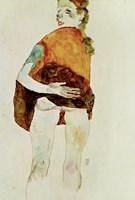 Standing Girl With Raised Skirt, 1911 by Egon Schiele, 1911 - various sizes