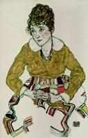 Portrait Of The Artist's Wife, 1917 Fine Art Print