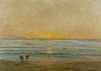 Sunset With Fishermen by Charles Francois Daubigny - various sizes