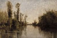 Banks Of The Seine, 1851 Fine Art Print