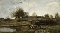Lock in the Optevoz Valley, Isere, 1855 by Charles Francois Daubigny, 1855 - various sizes