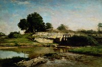 Dam At Optevoz by Charles Francois Daubigny - various sizes